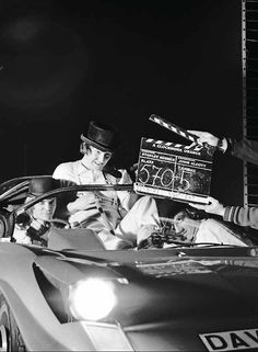 A Clockwork Orange, Dir. Stanley Kubrick  (The car is a 1969 Adams Probe 16)