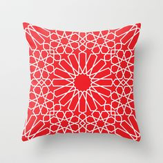 Moroccan Pattern 3 Throw Pillow by Abdelati Dinar - $20.00