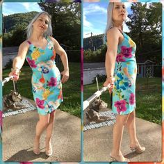 "ON HOLD🎉Host Pick🎉Sweetheart 1990's Floral Dress 🎉HOST PICK 🎉✨Top Trends Party 04/23/2016✨ Perfect 4 Hawaiian Themes!  This Retro Dress was Purchased in the 1990's!  Sweetheart Neckline, Very Stretchy Material...Worn 1 X, in Like-New Condition!  Tag States Sz. 6 But Fits Like a 4-5 in My Opinion.  Material: 97% Polyester/3% Spandex.  Measures Aprox. 17.5"" Flat Across Under Armpit & Bust...Waist Flat is 14.5""...Hips 18"".  (Material Stretches Across-Wise an 1.5"" Further!)  Length is 34.5""…"