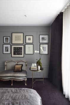 Taupe Gray walls, very calming palette