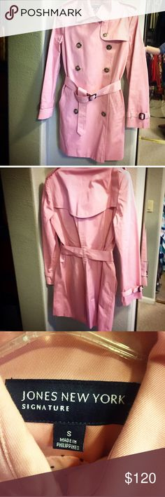 Jones New York Signature Trenchcoat Light pink, belted Jones New York Jackets & Coats Trench Coats