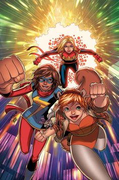 Marvel Rising Comic Issue 1 Limited Variant Modern Age First Print 2019 Magruder Captain Marvel, Marvel Dc, Avengers Comics, Comic Book Covers, Comic Books, Young Avengers, Story Arc, American Comics, Nerd Geek
