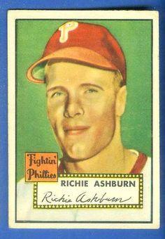 Richie Ashburn Phillies baseball card