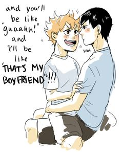 """Kags is like """"Yus"""" to whatever Hinata is saying"""