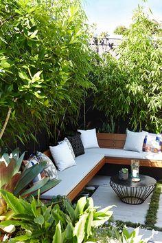 Backyard Seating, Small Backyard Landscaping, Garden Seating, Small Patio, Outdoor Seating, Backyard Patio, Outdoor Spaces, Outdoor Living, Outdoor Decor