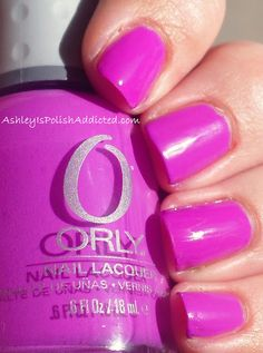 Ashley is PolishAddicted: Orly Frolic - Swatches and Review (and a bit of nail art!)