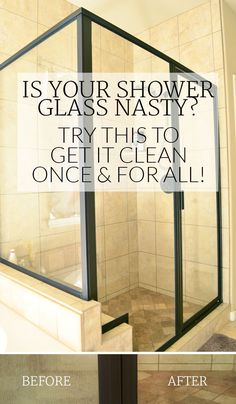 I can't believe this worked and the glass is clear! I can finally see through the shower glass again after thinking we were going to have to replace it.