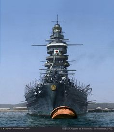 Nagato, an icon of Japan. Though not as celebrated as IJN Yamato, it is a symbol of Japan's rise to a world power.