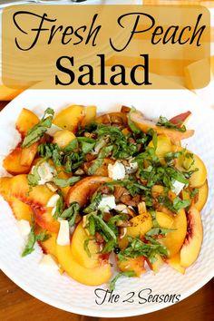 Fresh Peach Salad Recipe. This is so tasty!