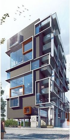Best Modern Apartment Architecture Design 22 image is part of 80 Best Modern Apartment Architecture Design 2017 gallery, you can read and see another amazing image 80 Best Modern Apartment Architecture Design 2017 on website Architecture Design, Facade Design, Futuristic Architecture, Residential Architecture, Amazing Architecture, Contemporary Architecture, Exterior Design, Contemporary Building, Building Exterior