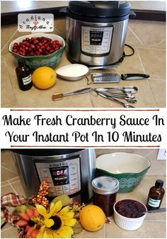Make Fresh Cranberry Sauce In Your Instant Pot In 10 Minutes Make Fresh Cranberry Sauce In Your Instant Pot In 10 Minutes. Do you love cranberry sauce? Cranberry sauce signals the beginning of th… Easy Family Meals, Frugal Meals, Easy Meals, Tasty Dishes, Food Dishes, Fresh Cranberry Sauce, Keep Recipe, Best Instant Pot Recipe, Most Delicious Recipe