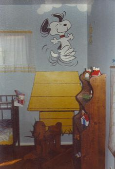 My Mom painted this mural on a friend's nursery wall over 30 years ago!