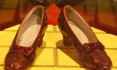Los zapatos rojos de la película El mago de Oz