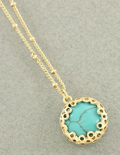 oxford trunk santa fe necklace - love the gold & turquoise combo