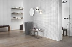 Buy online wall design flows By atlas concorde, white-paste wall cladding, wall design Collection 3d Wall Tiles, Ceramic Wall Tiles, Concorde, Wood Look Tile, Atlas, Wall Cladding, Tile Design, Architecture Details, Interior And Exterior