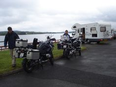 Here in Donegal, Ireland we have great roads for riding motor bikes, we get alot of bikers stopping over for a few nights at the Campsite, these guys are from Belgium and are having a blast!