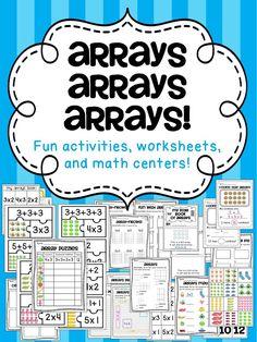 """How to Teach Arrays - Sure beats """"Ready"""" book!!!"""