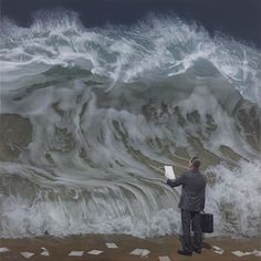 """Recent work by contemporary surrealist Australian artist Joel Rea. """"Wikipedia describes Contemporary art as having developed from Postmodern art and although Joel Rea is very… Surrealism Painting, Artist Painting, Seascape Paintings, Nature Paintings, Postmodern Art, Hyper Realistic Paintings, Melbourne Art, Australian Artists, Painting Art"""