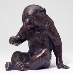 Lot:Japanese Bronze Okimono of a Macaque Monkey, Lot Number:287, Starting Bid:$500, Auctioneer:Leland Little Auctions, Auction:Japanese Bronze Okimono of a Macaque Monkey, Date:04:00 AM PT - Sep 14th, 2013