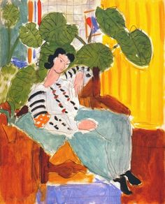 Henri Matisse, Small Romanian Blouse with Foliage, 1937  on ArtStack #henri-matisse #art
