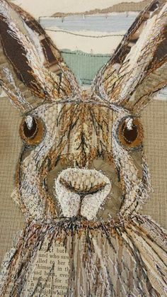 Textile collage by Anne Brooke.