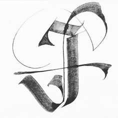 Beautiful J by the lovely for I always enjoy seeing Aline's craftsmanship in my feed! Tattoo Lettering Styles, Chicano Lettering, Tattoo Fonts, Letter J Design, Alphabet Design, Beautiful Calligraphy, Beautiful Fonts, Caligraphy Alphabet, Calligraphy Letters