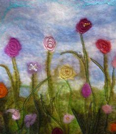 felt flower embroidery