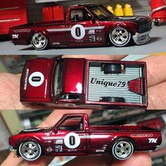 Low & clean kandy red 620 for Custom Hot Wheels, Custom Cars, Drift Truck, Lowrider Model Cars, Miniature Cars, Plastic Model Cars, Metal Toys, Toy Trucks, Models