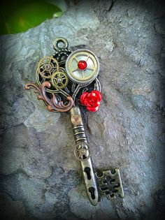 Steampunk Romance Fantasy Key by ArtbyStarlaMoore on Etsy, $17.00