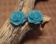10pcs Matte Sky Blue  21mm Quality Princess Resin Rose by CMVision