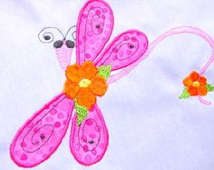 Dragonfly applique machine embroidery design by FunStitch on Etsy