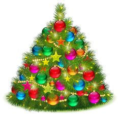 Large Transparent Decorated Christmas Tree PNG Clipart