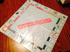 A family remake of Monopoly I made my cousin for Christmas. McMackinopoly.