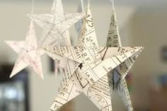 5 pointed origami star Christmas ornaments - step by step instructions (xmas holidays paper stars) Christmas Star Decorations, Diy Christmas Ornaments, Homemade Christmas, Book Crafts, Christmas Projects, Holiday Crafts, Christmas Crafts, Origami Ornaments, Craft Decorations