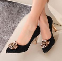Pointed Toe Rhinestone Embellished Kitten Heel with Crystal Studded Adornments , Bridal Shoes Pumps Heels, High Heels, Your Shoes, Women's Shoes, 2 Inch Heels, Bridal Shoes, Designer Shoes, Fashion Shoes, Kitten Heels