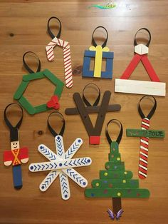 30 DIY Popsicle Stick Decor Ideas To Increase Your Interior Home  <br> Christmas Ornament Crafts, Christmas Crafts For Kids, Simple Christmas, Holiday Crafts, Christmas Diy, Christmas Decorations, Homemade Christmas, Kindergarten Christmas Crafts, Santa Crafts