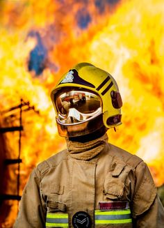 Photographic Competition: Fire Image shows Corporal Emma Pook one of two female Fire Fighters at RAF Benson Fire Section. The photo was taking during section fire training. RAF Fire Fighters provide fire and crash rescue protection.