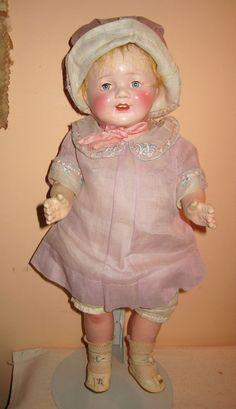 Vintage Arranbee composition cloth mama doll