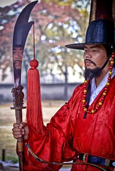 Coreia.  Kyung Bok Palace Guard, Seoul