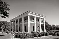 Earle-Harrison House is a 5000 sf side-entry Greek Revival house built in 1858. Photo by RandyTinneyPhotography.com