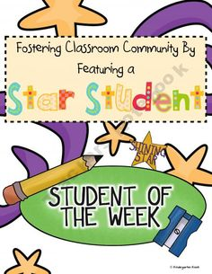 "Celebrate Community: ""Star of the Week""/ ""Student of the Week"" Activities"