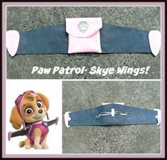 paw patrol Skye- felt wings More