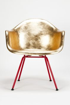 Eames and Jacobsen Go Gold - Okay Art via Flodeau ... | Lustik