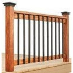 Pegatha 32-1/4 in. x 1 in. Black Aluminum Face Mount Deck Railing Baluster (5-Pack)-50050006 - The Home Depot