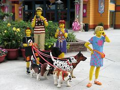 Downtown Disney Lego Store - Model Family with Dogs