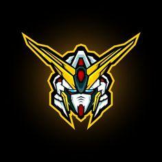 Depadepi | Freepik Gundam Head, Gundam Art, Esports Logo, Cool Anime Wallpapers, Game Logo, Gundam Model, Geometric Background, Logo Design, Vector Design
