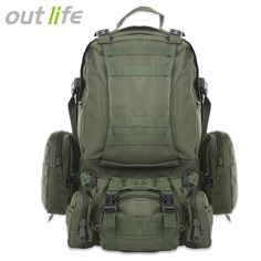 ebd6f2acce Buy Outlife Outdoor Backpack Molle Military Tactical Backpack Rucksack  Sports Bag Waterproof Camping Hiking Backpack For Travel