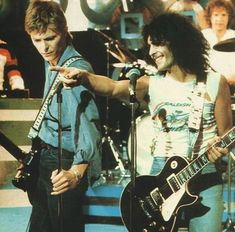 """David Bowie & Marc Bolan (on UK's """"Marc Show"""", 1977)"""