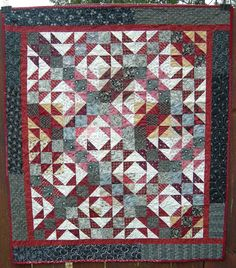 Playing With Jacks, Jacks On Six, Double X, Old Maid's Puzzle, Cat's Cradle, Three And Six... beloved quilt block pattern has many names...