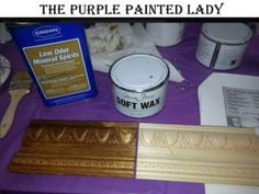 Don't Be Afraid Of The Dark!….. Dark Wax by Annie Sloan, that is!!!! (making a Glaze with Dark Wax) | The Purple Painted Lady